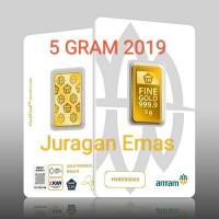 5 GR (GRAM) LOGAM MULIA/LM/EMAS BATANGAN ANTAM SERTIFIKAT BARU