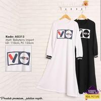 gamis muslim | AG 313 white | fashion murah wanita | dress diskon