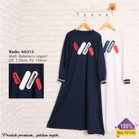 gamis wanita |AG312 white | fashion wanita murah