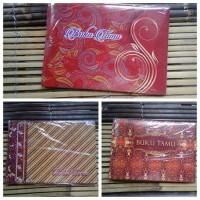 Buku Tamu Undangan motip batik - Cokelat