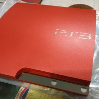 PS3 SLIM 320gb Limited Edition Red Metalic Fullset Bergaransi