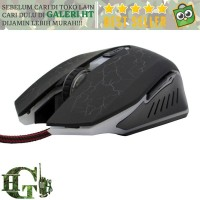 NEW AUW Mouse Gaming Optical dengan Dazzle Color Red LED - SD-P505