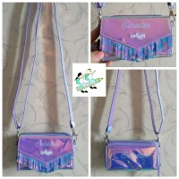 Smiggle Fringe Luxe Purse with Strap Lilac / Dompet Smiggle