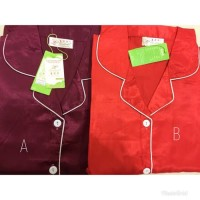 Piyama 881 Lengan Celana Pendek | Baju Tidur Satin Wanita