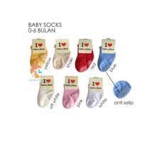 Baby Love Socks - Kaos Kaki Bayi Polos Warna 0-6 Bulan