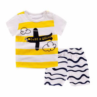 Kids 1 Pair Short And Tee - Baju Anak Setelan Pendek (PLANE)