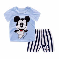 Kids 1 Pair Short And Tee - Baju Anak Setelan Pendek (Mickey)