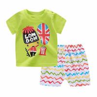 Kids 1 Pair Short And Tee - Baju Anak Setelan Pendek (LONDON)