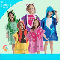 Kids Hooded Towel - Cotton Bathrobe - Handuk Ponco