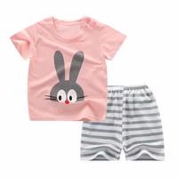 Kids 1 Pair Short And Tee - Baju Anak Setelan Pendek (BUNNY)
