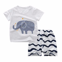 Kids 1 Pair Short And Tee - Baju Anak Setelan Pendek (ELEPHANT)