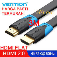 [3M - B02] Vention Kabel Flat HDMI v1.4b Full HD 3D Hdmi Flat 3 m B02