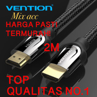 [2M - B05] Vention Kabel Hdmi High Speed Nylon Braided HDMI v2.0 4K 2M