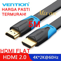 [5M - B02] Vention Kabel Flat HDMI v1.4b Full HD 3D Hdmi Flat 5 m B02