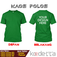Jual Kaos Sablon Polos Hitam Kota Bandung Koedetta Tokopedia