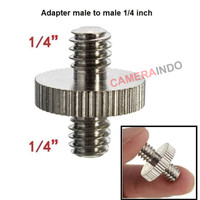 adapter male to male 1/4 inch for Tripod Monopod Ballhead LightStand