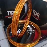 Velg TDR W Shape Set 17 x 160 / 185 warna Gold