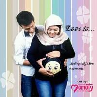 Momoty model kaos baju ibu hamil lucu dengan gambar bayi