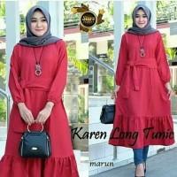 Baju Wanita Long Tunic Modern Karen Muslim Terbaru MURAH