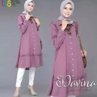 Baju Wanita Long Tunic Modern Davina Muslim Terbaru MURAH