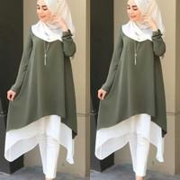 Tunik Muslim Wanita / Atasan Panjang Muslim Wanita