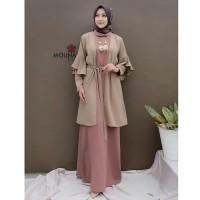 Setelan dress muslim wanita / Gamis rompi wanita syari