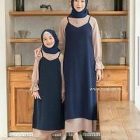 Dress Muslim Couple polos / Rosalin Gamis Couple