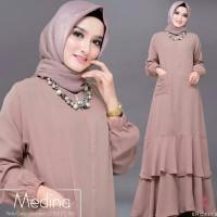 Baju Dress Muslim Syari Maxi / Gamis Brokat Wanita