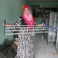 FREE ONGKIR Jemuran pakaian dinding praktis ukuran 75cm