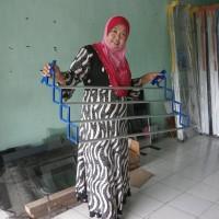 TERJAMIN Jemuran pakaian dinding simple dan praktis ukuran 1,2 meter