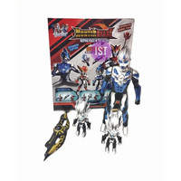 Mainan Anak Robot Ultraman Hunter Beast 3 pcs ultraman + Senjata No.73