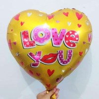 Balon Foil Love You/ Balon Hati/ Balon Love 45 cm