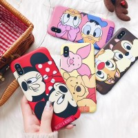 JAMULAR Cartoon Mickey Minnie Mouse Case For iPhone 6 6s 8 X 7 Plus XR