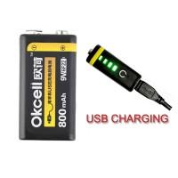 Harga mainan hobi okcell 9v 800mah usb rechargeable lipo battery | antitipu.com