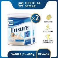 Ensure Vanila 400 g Susu Nutrisi Dewasa Rendah Laktosa - 2 klg
