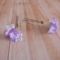 Hiasan Rambut Pesta Head Piece Tusuk Konde Bunga Peto Ungu Purple