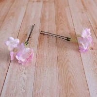 Hiasan Rambut Pesta Head Piece Tusuk Konde Bunga Peto Merah Muda Pink