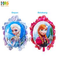 Balon Foil Frozen Anna Elsa Ana Character 2 in 1 Mini 60 cm Pink Blue