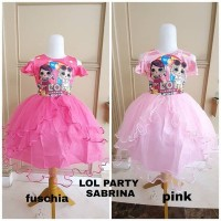 BAJUKIDDIE LOL PARTY SABRINA DRESS dress anak pesta import ultah kado