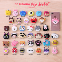 [Kode 021-039] Popsocket 3D Karakter/ 3D Cartoon Popsockets/ Popsocket
