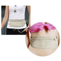 tas dompet travel pinggang anti maling anti-theft invisible bag bta423