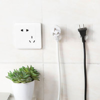 gantungan transparan multifungsi transparent power plug hanging hsi029