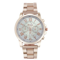 jam tangan fashion geneva chronograph chain watch jwa053