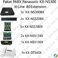 Paket PABX Panasonic KX-NS300 36 Line 80 Extension