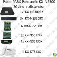 Paket PABX Panasonic KX-NS300 36 Line 112 Extension