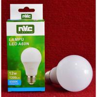Lampu LED Bohlam NVC Basic Light Bulb 12 W Watt Putih 6500K