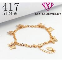Gelang Jurai Perhiasan imitasi Gold Yaxiya Jewelry 417