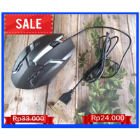 MOUSE GAMING LED T-WOLF V1 / MOUSE GAMING RGB WITH CABLE - Hitam