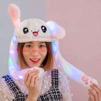 Topi menari kelinci Kuping Bergoyang Dengan Lampu Warna Warni