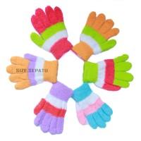 woll sarung tangan wanita hangat berbulu berwaran
